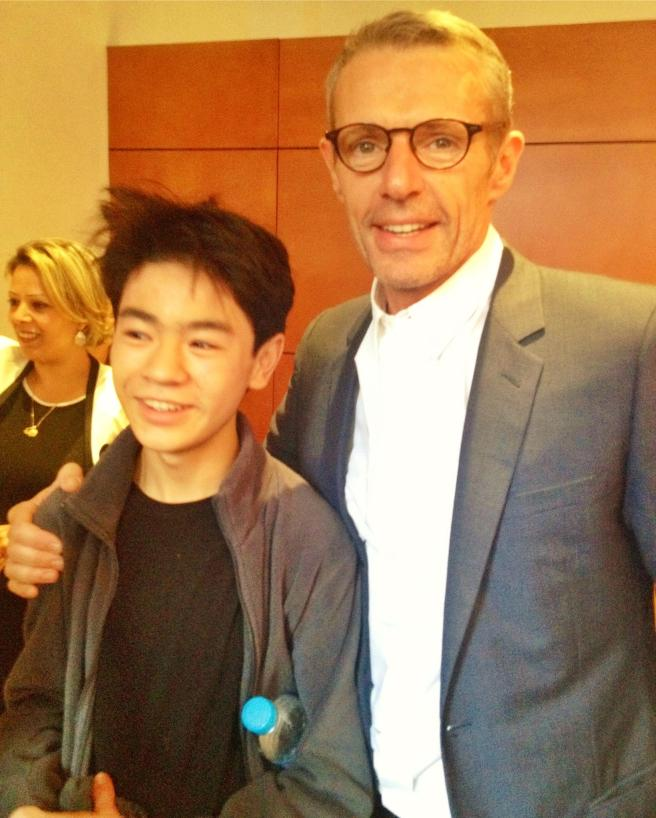 Koji with Lambert Wilson who played the title role of the King
